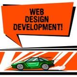 Palavra que escreve o desenvolvimento do design web do texto Conceito do negócio para Web site tornando-se para hospedar através  ilustração royalty free