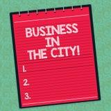 Palavra que escreve o negócio do texto na cidade O conceito do negócio para escritórios profissionais das empresas urbanas nas ci ilustração do vetor
