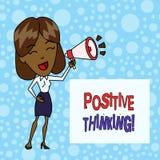 Palavra que escreve o pensamento do positivo do texto Conceito do neg?cio para a atitude mental em que voc? espera resultados fav ilustração do vetor