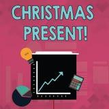 Palavra que escreve o presente de Natal do texto Conceito do negócio para apresentado como um presente dado em comemoração do Nat ilustração stock