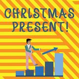 Palavra que escreve o presente de Natal do texto Conceito do negócio para apresentado como um presente dado em comemoração do sor ilustração do vetor