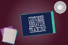 Palavra que escreve o seguimento do comportamento do cliente do texto Conceito do negócio para a ação que um usuário toma relativ ilustração do vetor