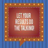 A palavra que escreve o texto deixou seus resultados faz a fala Conceito do negócio para menos falar mais ação feita coisas tomad ilustração do vetor