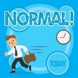 Palavra que escreve o texto normal Conceito do negócio para conformar-se a um homem típico ou previsto usual padrão em levar do l ilustração stock