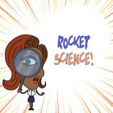 Palavra que escreve o texto Rocket Science Conceito do negócio para a atividade difícil que você precisa de ser inteligente fazer ilustração stock