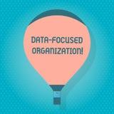 Palavra que escreve a organização focalizada dados do texto Conceito do negócio para a captação e para reforçar o valor de suas i ilustração do vetor