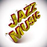 Palavra quebrada dimensional da música jazz do vetor, música contemporânea ilustração royalty free
