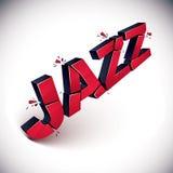Palavra quebrada dimensional do jazz do vetor, chiqueiro musical contemporâneo ilustração royalty free