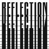 A palavra - reflexão Conceito da composição Projeto geométrico decorativo da fonte, preto e branco ilustração stock