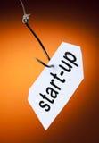 Palavra Start-up no gancho Imagens de Stock