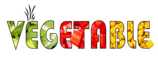 Palavra vegetal Imagem de Stock Royalty Free