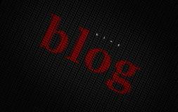 Palavra vermelha do typography do blogue Imagens de Stock Royalty Free