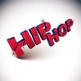 Palavra vermelha quebrada dimensional do hip-hop do vetor, musi contemporâneo ilustração do vetor