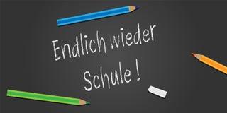 Palavras alemãs de volta à escola! ilustração stock