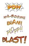 Palavras cómicas Imagens de Stock