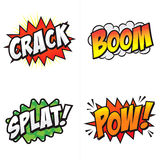 Palavras cômicas da ação! Imagens de Stock