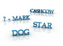 Palavras-chaves 3d modelo do mercado no azul Imagens de Stock