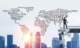 Palavras conceptuais do negócio da escrita do homem de negócios Foto de Stock Royalty Free