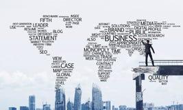 Palavras conceptuais do negócio da escrita do homem de negócios Fotos de Stock