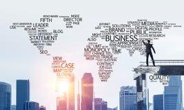 Palavras conceptuais do negócio da escrita do homem de negócios Fotografia de Stock Royalty Free