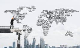 Palavras conceptuais do negócio da escrita do homem de negócios Fotografia de Stock