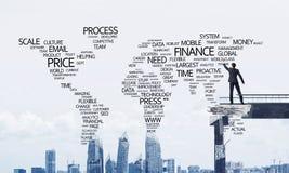 Palavras conceptuais do negócio da escrita do homem de negócios Imagens de Stock Royalty Free