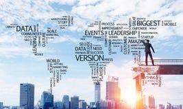 Palavras conceptuais do negócio da escrita do homem de negócios Imagem de Stock