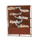 Palavras conceptuais sobre a preservação do ambiente Fotografia de Stock Royalty Free
