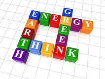 Palavras cruzadas 26 - a energia, terra, pensa, esverdeia Imagens de Stock Royalty Free