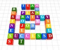 Palavras cruzadas 6 Imagem de Stock
