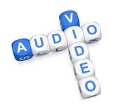 Palavras cruzadas audio do vídeo 3d Imagem de Stock Royalty Free