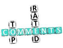 Palavras cruzadas avaliados superiores dos comentários Foto de Stock