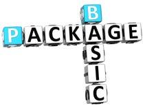 palavras cruzadas básicas do pacote 3D Fotografia de Stock
