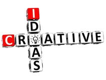 palavras cruzadas criativas da ideia 3D Imagens de Stock