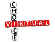 palavras cruzadas 3D bem escolhidas virtuais Imagens de Stock