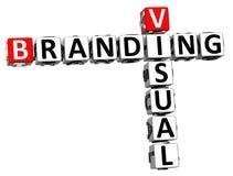 palavras cruzadas 3D de marcagem com ferro quente visuais Imagem de Stock