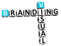palavras cruzadas 3D de marcagem com ferro quente visuais Fotografia de Stock
