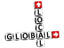 palavras cruzadas 3D locais globais Fotos de Stock