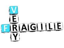 palavras cruzadas 3D muito frágeis Fotografia de Stock Royalty Free