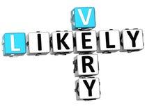 palavras cruzadas 3D muito prováveis Fotos de Stock Royalty Free