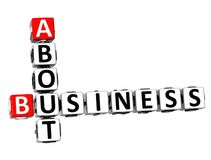 palavras cruzadas 3D sobre o negócio no fundo branco Fotos de Stock Royalty Free