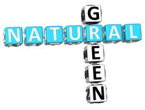 palavras cruzadas 3D verdes naturais ilustração royalty free