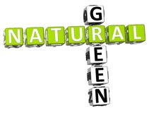 palavras cruzadas 3D verdes naturais Fotografia de Stock