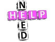 Palavras cruzadas da ajuda da necessidade Fotografia de Stock