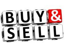 palavras cruzadas da compra 3D e da venda Fotos de Stock
