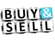 palavras cruzadas da compra 3D e da venda Imagem de Stock Royalty Free