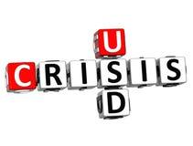 palavras cruzadas da crise de 3D USD ilustração do vetor