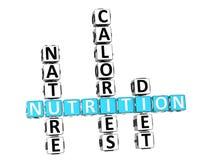 palavras cruzadas da dieta da saúde da nutrição 3D Imagem de Stock