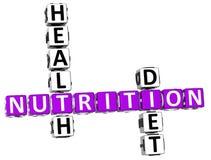 palavras cruzadas da dieta da saúde da nutrição 3D Imagens de Stock
