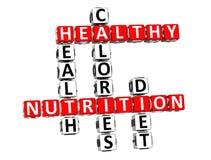 palavras cruzadas da dieta da saúde da nutrição 3D Fotografia de Stock